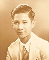 Au Keng Chu aged 16, 17 or 18, late 1930s