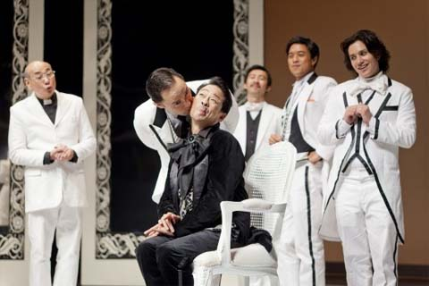 A scene from Oscar Wilde's The Importance of Being Earnest, performed by Wild Rice Productions, 2013. Photo: Wild Rice