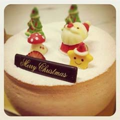 Christmas souffle cheesecake. Pic from Kki's Facebook fan page