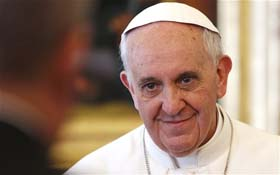 Pope Francis. Photo: The Telegraph, UK