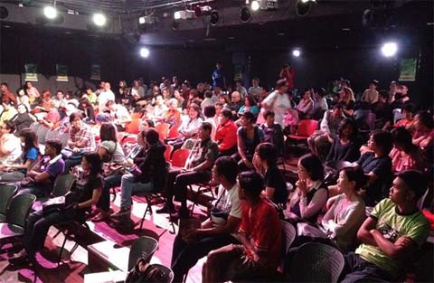 A Malaysian audience watching 'To Singapore, with love' -- photo from the film's Facebook page
