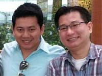 Pham Van Thoai (left) and Gabriel Kang (right) at the airport. Pic by Gabriel Kang