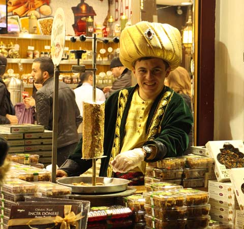 Selling traditional sweets to secular modern tourists