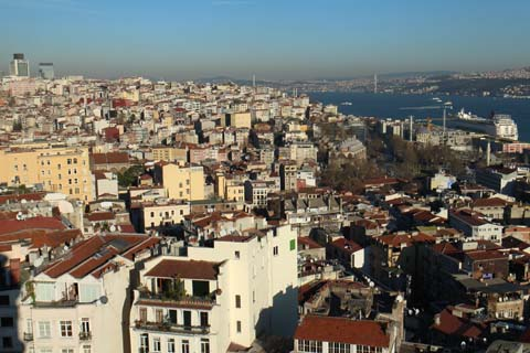 View northeast from Galata Tower