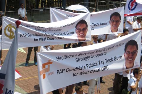 Unions come out in support of a PAP candidate
