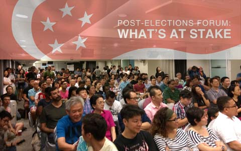 Maruah held a post-election forum on 19 Sept 2015.