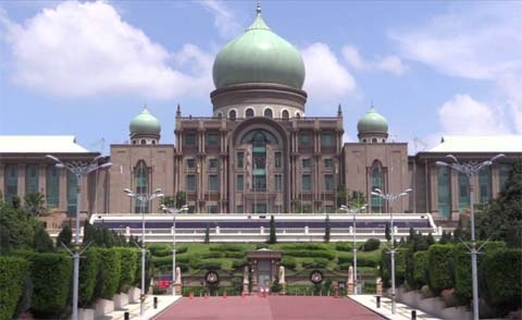 The prime minister's grandiose office in Malaysia's capital, Putrajaya, has no Malay influences, but much from Central Asia and Iran