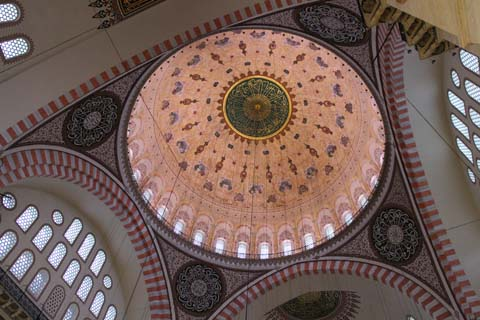The dome of the Suleiman Mosque in Istanbul